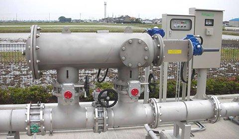 製紙工場のマシン用清水ラインに供給されている井戸水の砂などの除去