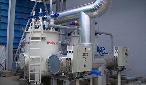 精密電子機器工場内で使用される用水の微細な砂等の除去