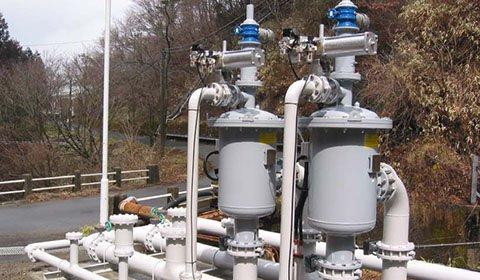 火力発電所における雨天時の水質改善のための砂等の除去