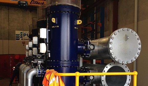 製鉄工場における圧延工程でのスプレーノズルの目詰まり防止、砂ろ過の代替