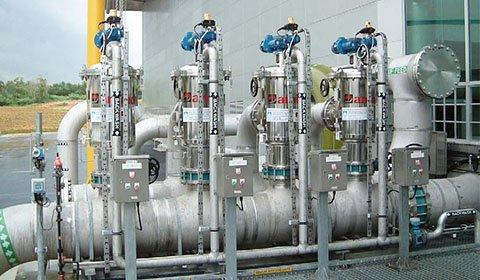 凝集沈殿処理後の水を原水とする下水再生計画においてMF膜の保護フィルターとして導入