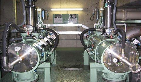 中水として再利用される下水処理水に混入したユスリ蚊の卵の除去