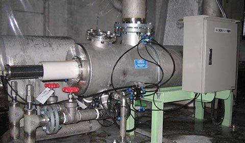 製紙工場のマシン用高圧清水ラインに混入している珪藻類・砂・虫などの除去